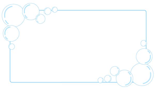 しゃぼん玉バブル枠フレームイラストpop素材