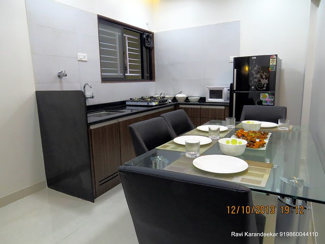 Dining & Kitchen - Visit 2 BHK Show Flat of Venkatesh Lake Life, Phase 1 - 1 BHK 2 BHK Flats & Shops on Dattanagar Jambhulwadi Road, Ambegaon Khurd, Pune