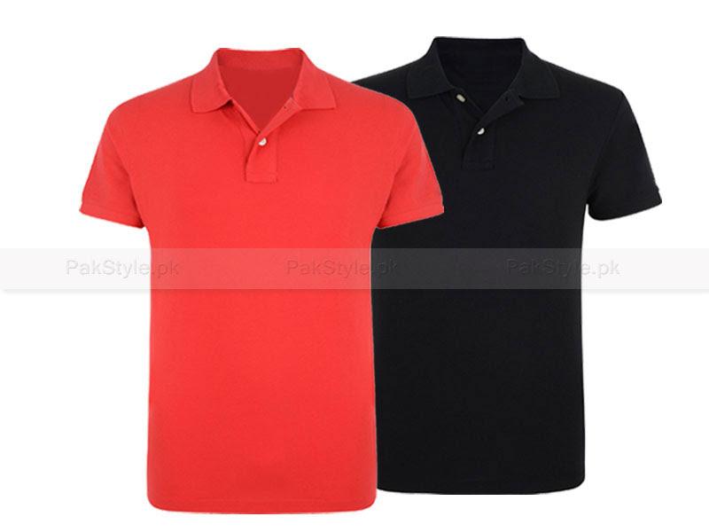 2 Plain Polo Shirts in Pakistan