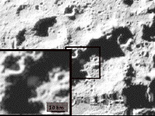 The Visible camera image showing the ejecta plume at about 20 seconds after impact.