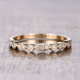 Half Eternity Art Deco Antique SI/H Diamonds Wedding Band