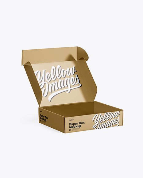 Download Download Donut Box Mockup Psd PSD - Metallic Opened Box ...