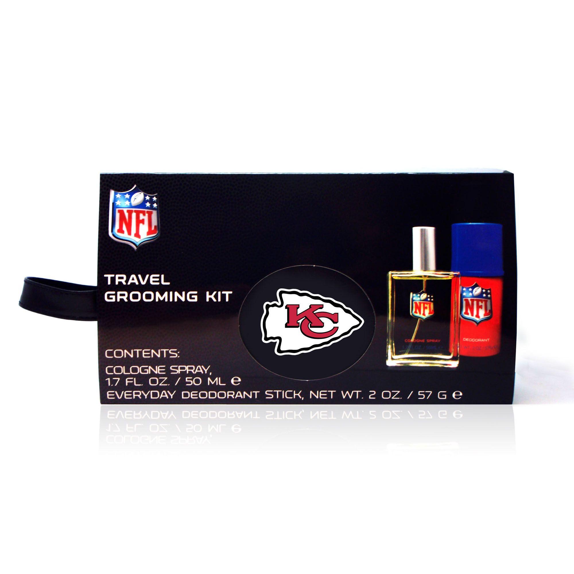 NFL Kansas City Chiefs Mens Travel Grooming Kit