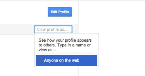 как узнать как выглядит профайл в Google+