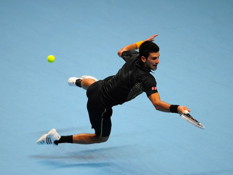 Djokovic shows his athleticism
