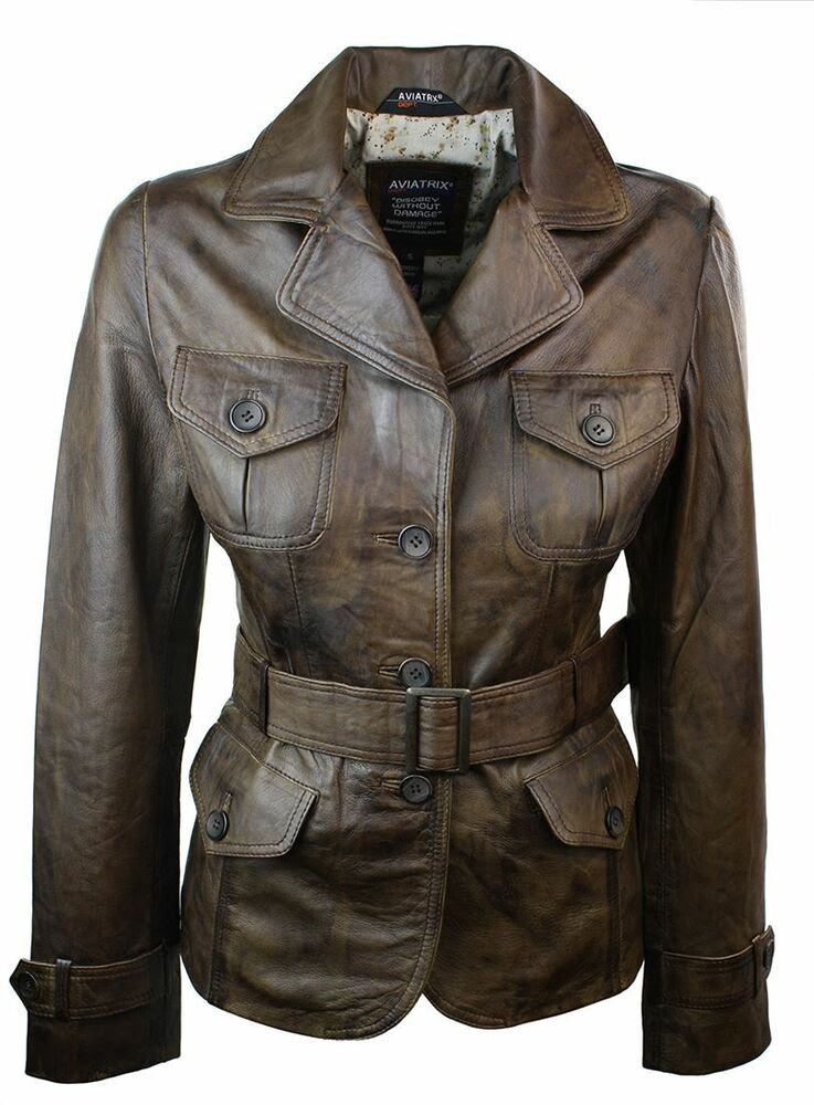 Vintage women leather brown jackets for lulu