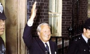 Edward Heath μετά την εκλογική του νίκη το 1970.