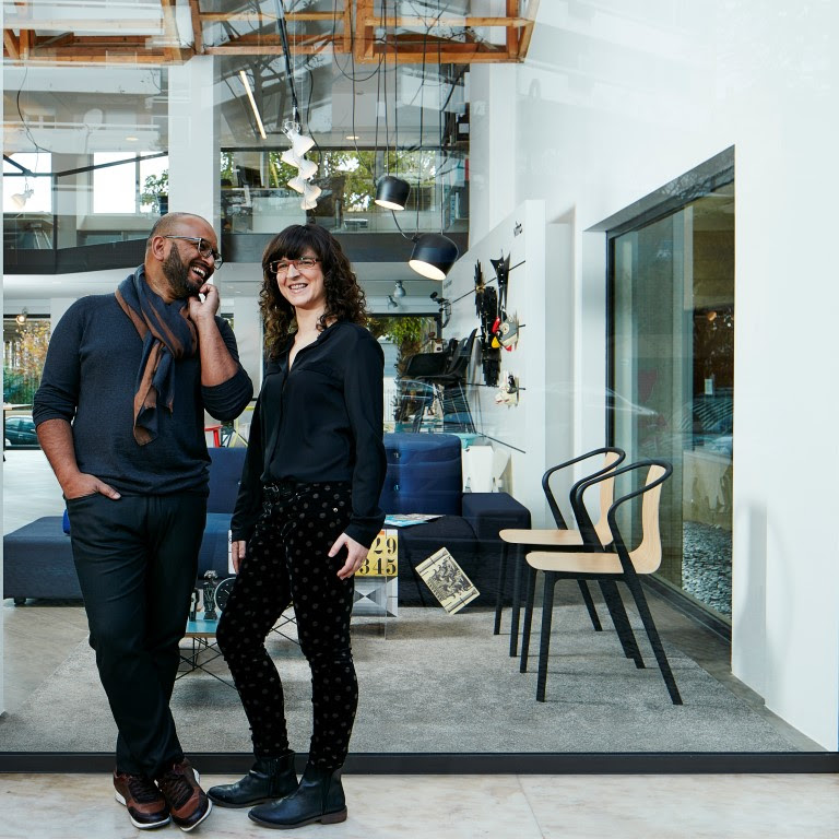 Space Invaders, an high end design shop and arquitecture studio in the city of Faro, capital of Algarve in the south of Portugal. In this picture: the owners and husband and wife and arquitect/designer: João Fernandes/Ana Sequeira Faro, 18 January 2016 PHOTO: VASCO CELIO/STILLS