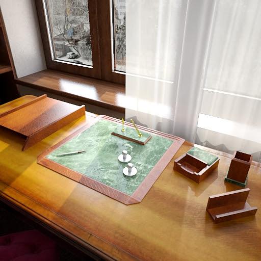 Bir sahne çalışma penceresinin 3D modeli