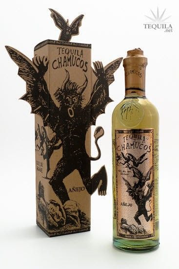 Chamucos Tequila Añejo Especial - Very Interesting Bottle & Package