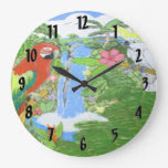 Tropical Paradise Clock