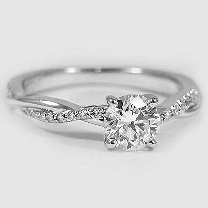 18K White Gold Petite Twisted Vine Diamond Ring   sparkle