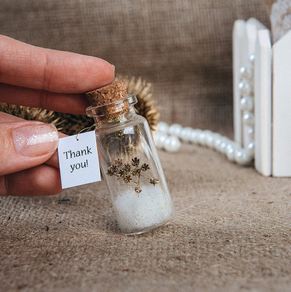 Natural Favors Eco Wedding Favour Thank You Bottle Wedding Gift For