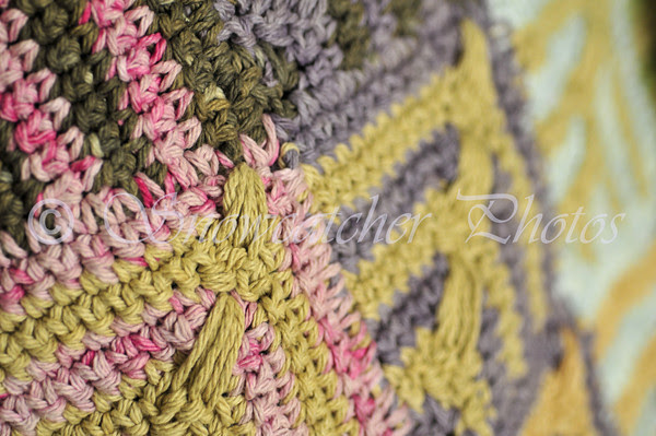 Naturally Dyed and Hue Shift-Inspired Crocheted Summer of Color Afghan
