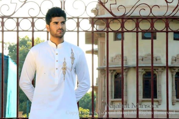 Wajahat-Mansoor-Latest-Summer-Eid-Kurta-Pajama-Salwar-Kameez-Collection-2013-Mens-Boys-