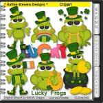 Lucky Frogs Clipart - CU