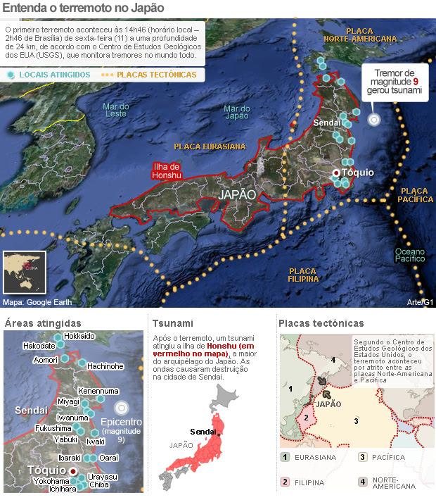 VALE ESTE MAGNITUDE REVISADO - Entenda o terremoto no Japão (Foto: Arte/G1)