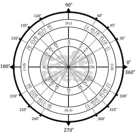Math Geek Unit Circle Necklace by brainygear