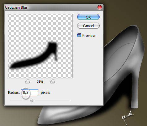Lady Shoes in Vector