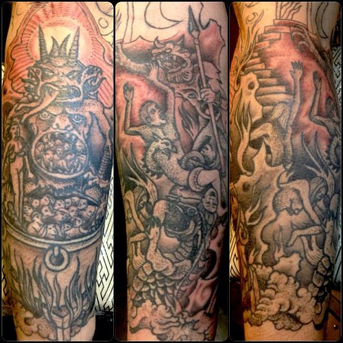 Inferno Sleeve In Progress Inferno Heaven Purgatory Hell