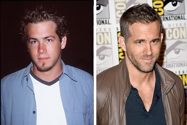 Ryan Reynolds em 1999 e em 2015 (Foto: Getty Images)