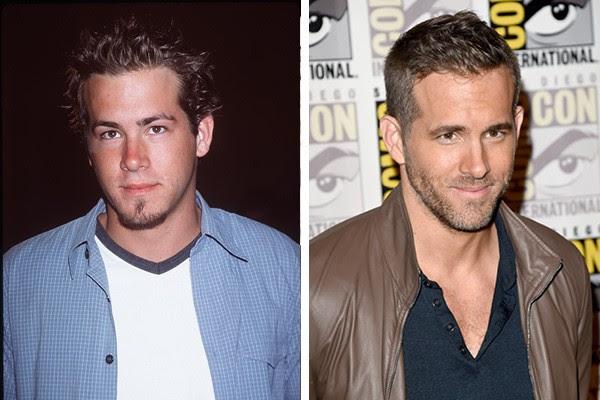 Ryan Reynolds em 1999 e em 2015 (Foto: Getty Images)