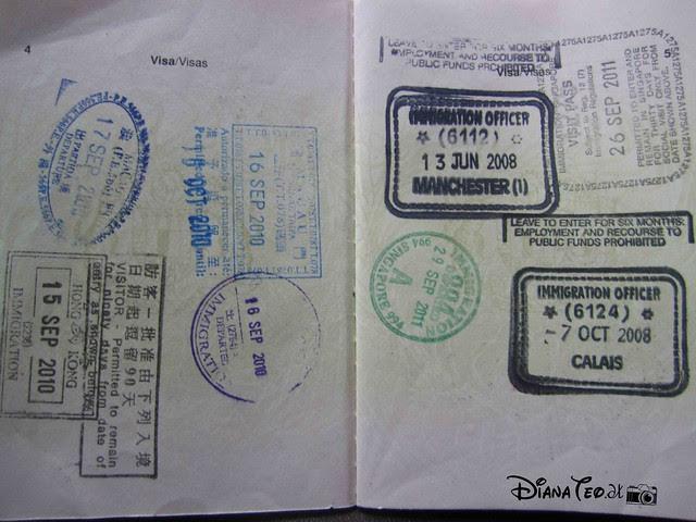 Passport Stamp Collection 01