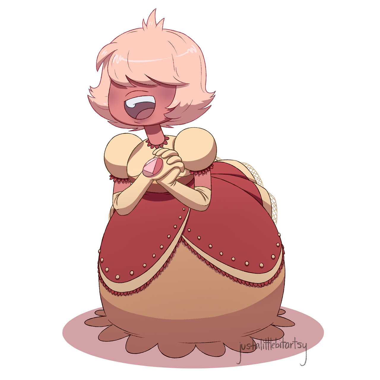 quick doodle of the precious sugarplum that is our Padparadscha (art by me, do not repost without credit) :)