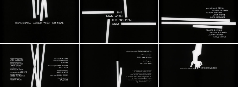 Saul Bass The man with the golden arm 1955 title sequence