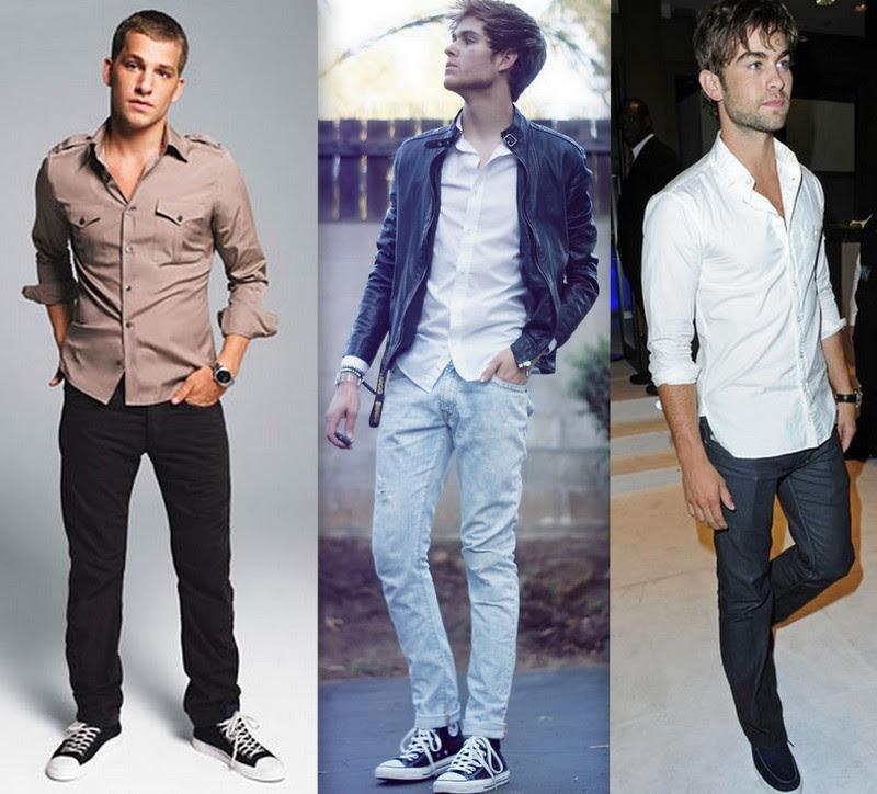 Resultado de imagem para calça jeans masculina camisa social dobrada