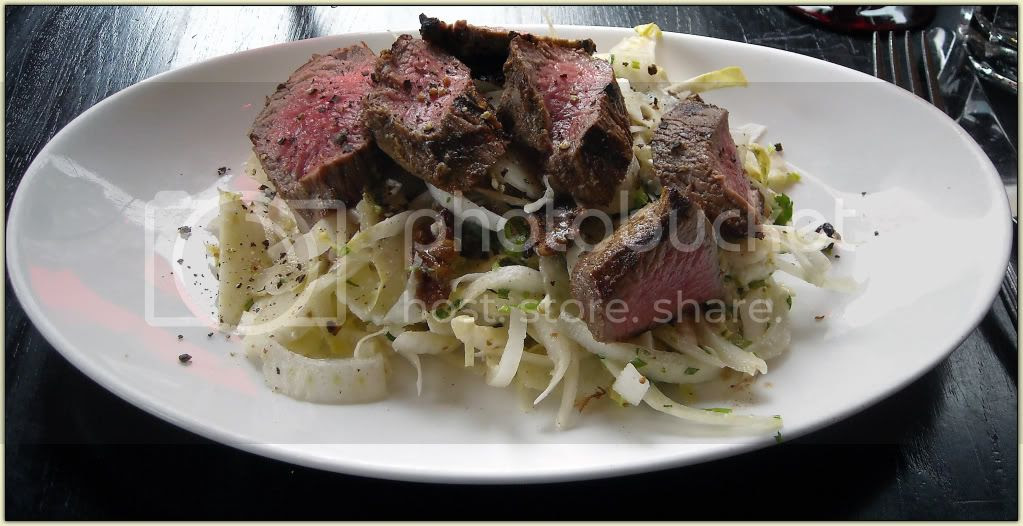 Endive and Fennel Salad with Steak