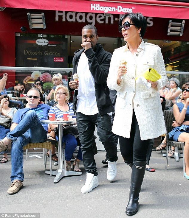 'Great job': The feature recalls an awkward encounter between Kanye and Kim's mother Kris Jenner, as witnessed by writer Chris Bagley, seen here in June last year in Paris