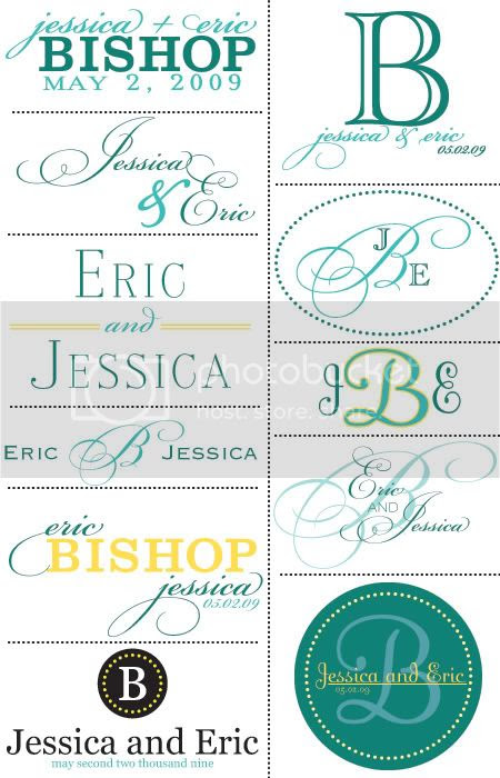 Monogram ideas! | The Budget Savvy Bride