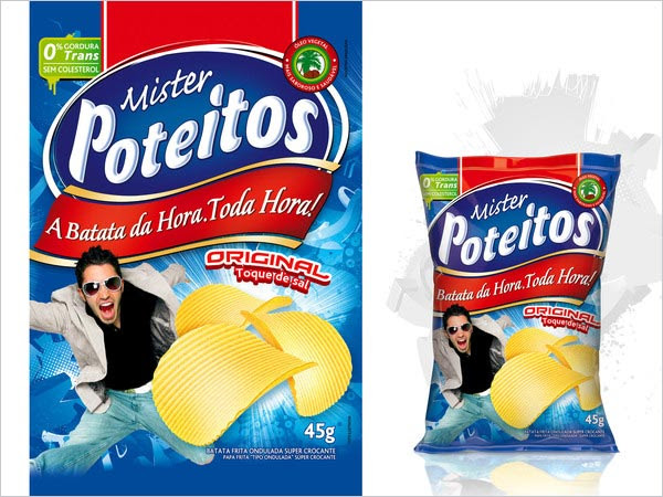 Mr Poteitos Potato Chips Packaging 30+ Crispy Potato Chips Packaging Design Ideas