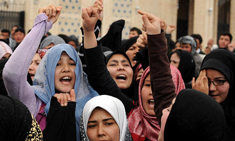 Afghan Shia women protest in Kabul