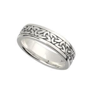Solvar Celtic Rings Ladies Trinity Wedding Band