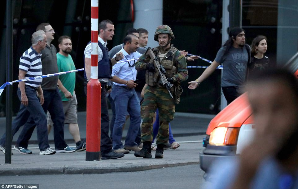 Armed soldiers cordoned off the area and ensured all passengers and tourists were moved well away from the scene