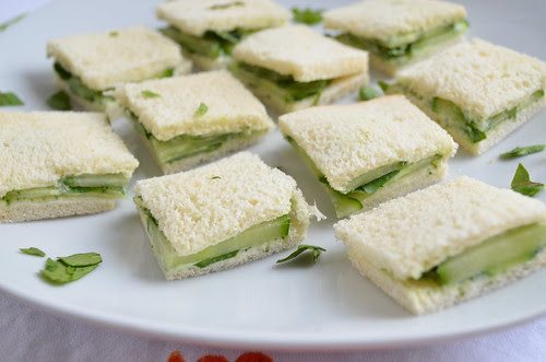 Cucumber & Watercress Sandwiches