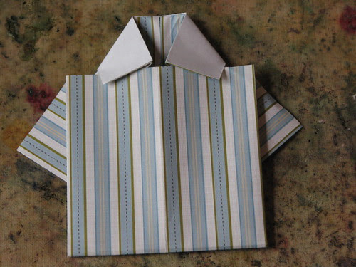 Origami Shirt Card & Tie 011