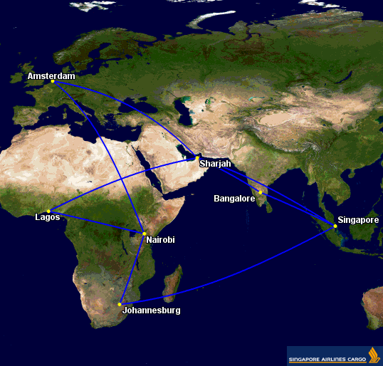 Singapore Airlines Cargo adjusted Africa routes
