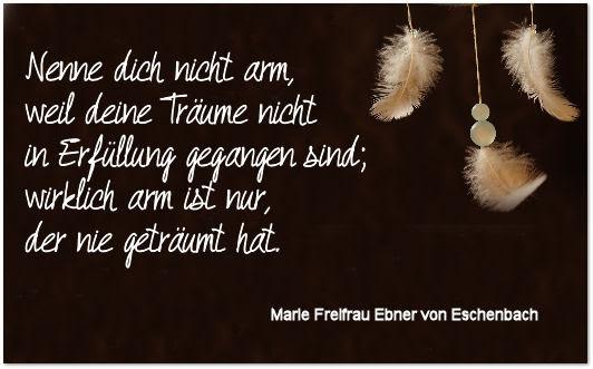 Die Rabenfrau: Zitat Ebner Eschenbach über Träumen
