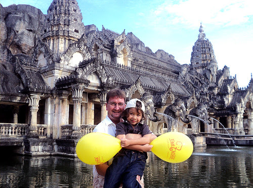 Me and the boy at Phuket Fantasea