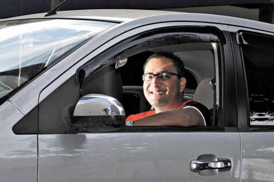 O brigadista Fábio Souza diz que nunca foi multado. Ele se mostrou surpreso com a medida que será adotada pelo Detran do Distrito Federal (Edilson Rodrigues/CB/D.A.Press)