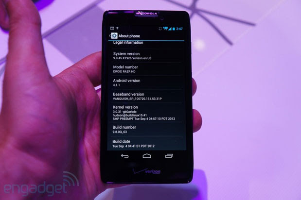 Android 41 Jelly Bean roll out for Droid RAZR HD, RAZR Maxx HD to begin next week