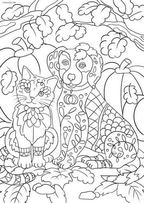 cats  dogs cat  dog printable adult coloring