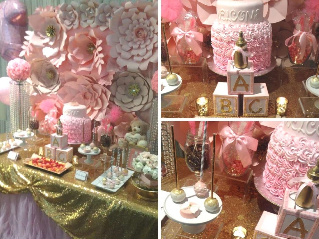 Pretty Pink And Gold Baby Shower Baby Shower Ideas Themes Games