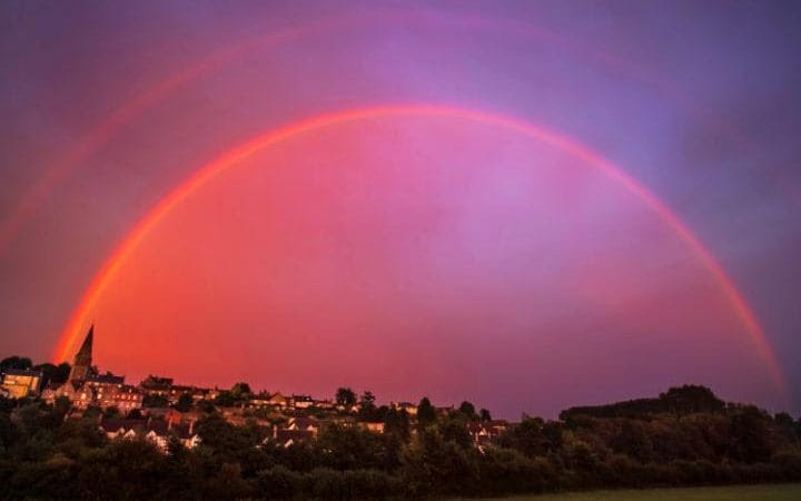 "Signs In The Heavens: ""Double Red Rainbow"" And Horizontal Lightning"