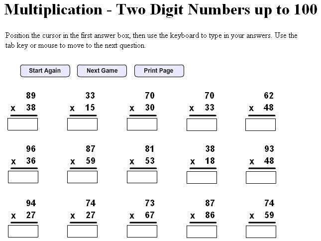 6th Grade Math Practice Printable Worksheets - Tedy ...