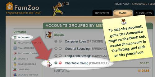 Edit the Account Settings