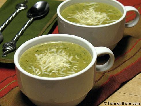 Roasted Leek and Potato Soup with Arugula